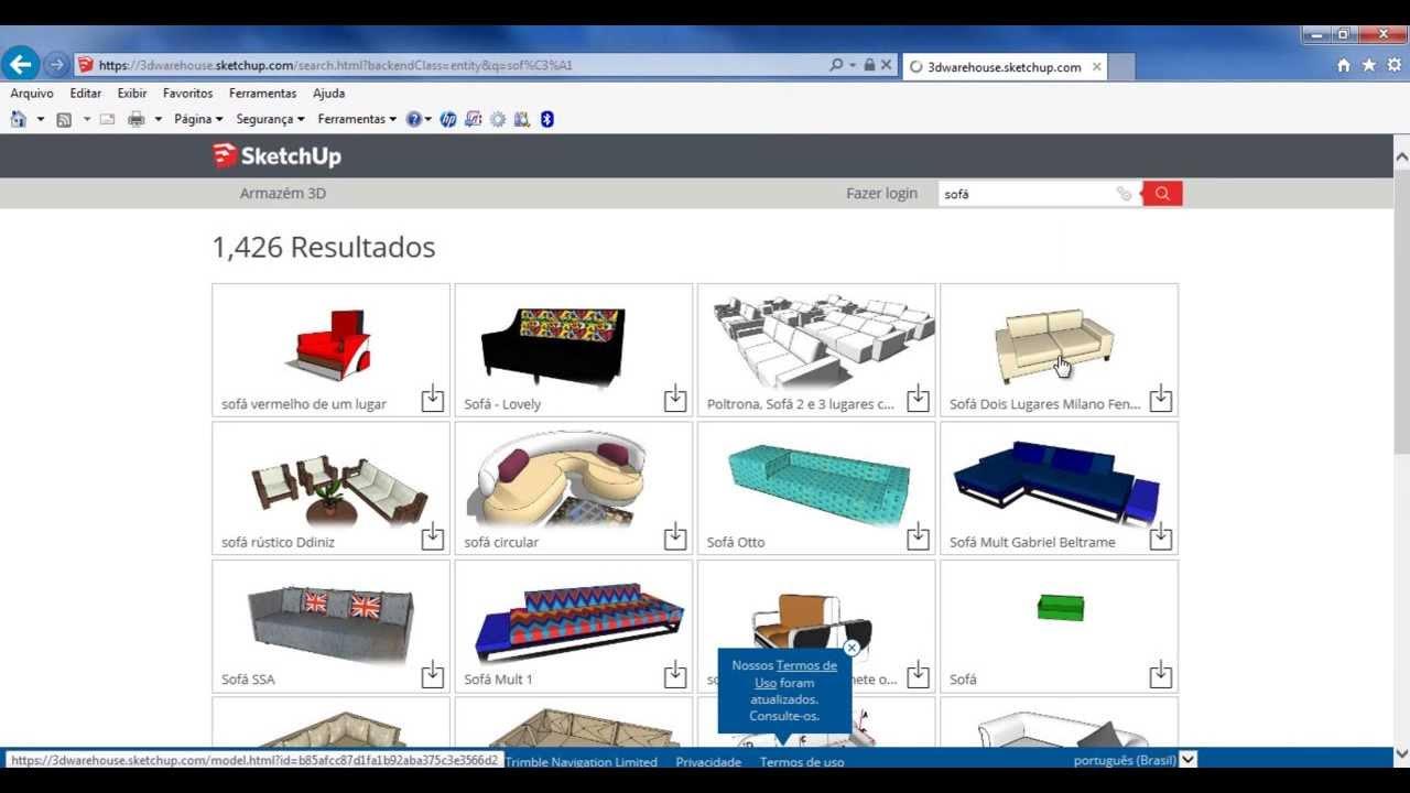 Baixar Desenhos Do Sketchup Diretamente Do Site 3d Warehouse