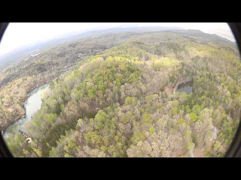Aerial View Lot 95 Cedar Creek Interior w Boat Slip Mike Matt Roach