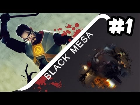 Black Mesa - Let's Play - Part 1 - BEST TRAIN EVAR!! (FREE DOWNLOAD Half Life 1 HD)
