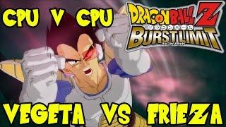 Dragon Ball Z Burst Limit: CPU vs CPU Shoutcast Battle! Vegeta vs Frieza