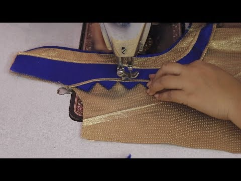 Patch WOrk Design For Saree Blouse Cutting and Stitching 2018