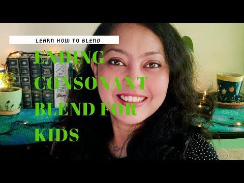 LEARN HOW TO BLEND.ENDING CONSONANT BLEND FOR KIDS.