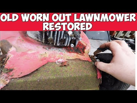 Old Worn Out Lawnmower Lives Again Restoration