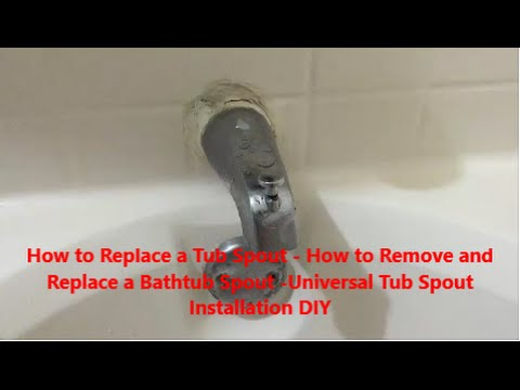 Delightful How To Replace A Tub Spout How To Remove And Replace A Bathtub Spout  Universal Tub Spout DIY   YouTube