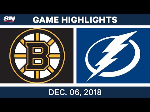 NHL Highlights | Bruins vs. Lightning - Dec 6, 2018