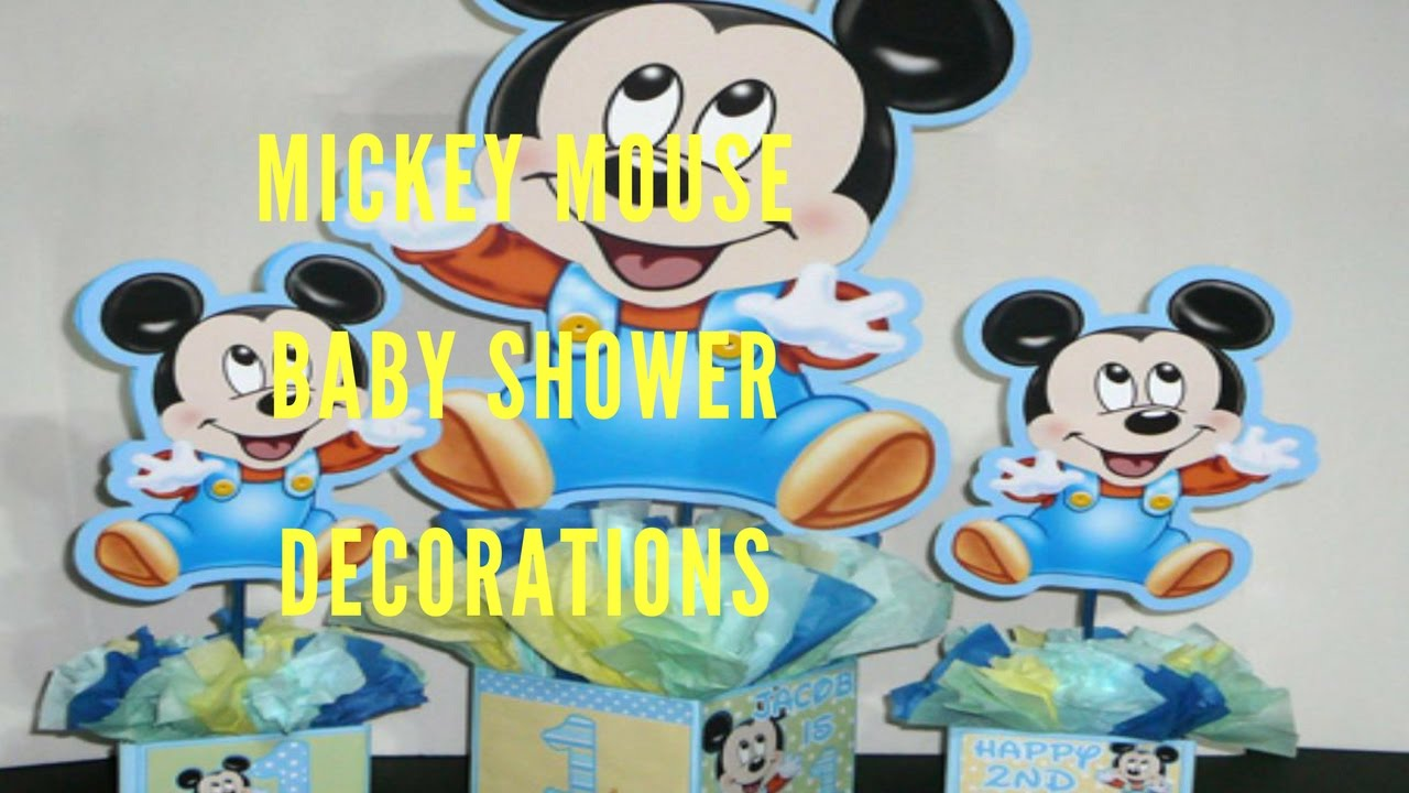 Mickey Mouse Baby Shower Decorations Youtube