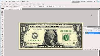 How to Photoshop Dollar Bill
