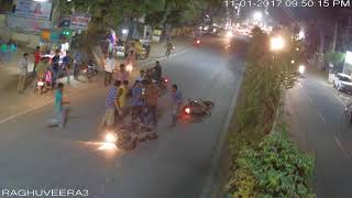 two wheeler, two wheeler accident at  Raghuveera tower      VIP     1