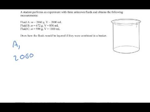 Density Problem Examples Igcse Physics Youtube