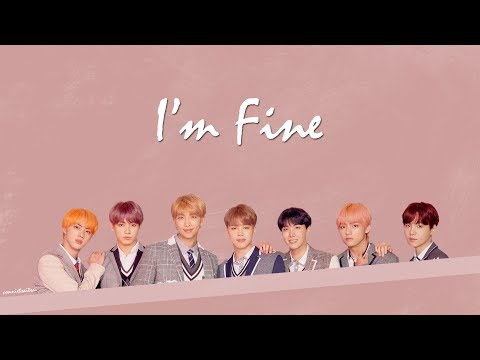 【韓繁中字+認聲】BTS (방탄소년단/防彈少年團) _ I`m Fine