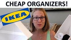UNDER $10 Ikea Organization Products | Stylish White