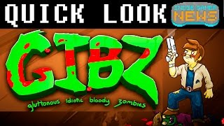 Let's Play Gibz Gameplay - Gibz Quick Look - Gibz Preview - Endless Cartoony Zombies