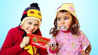 Celina buy the Chocolate Box - سيلينا وحسونة صندوق الشوكولاطة