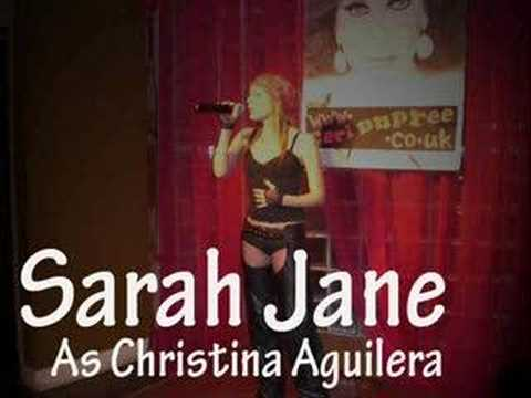 Sarah Jane as Christina Aguilera