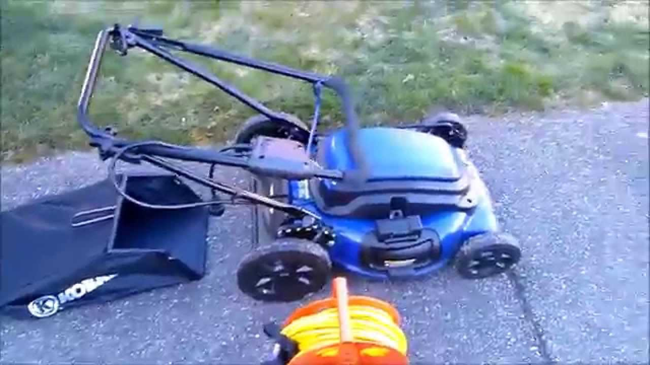 medium resolution of kobalt km210 corded electric mower review
