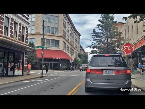 Driving Downtown - Asheville - North Carolina USA