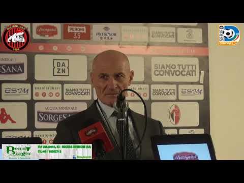BARI - NOCERINA 4-0  La conferenza stampa di Paolo Maiorino