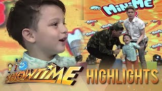 It's Showtime MiniMe 3: Vhong and Zeus pushes MiniMe James Reid