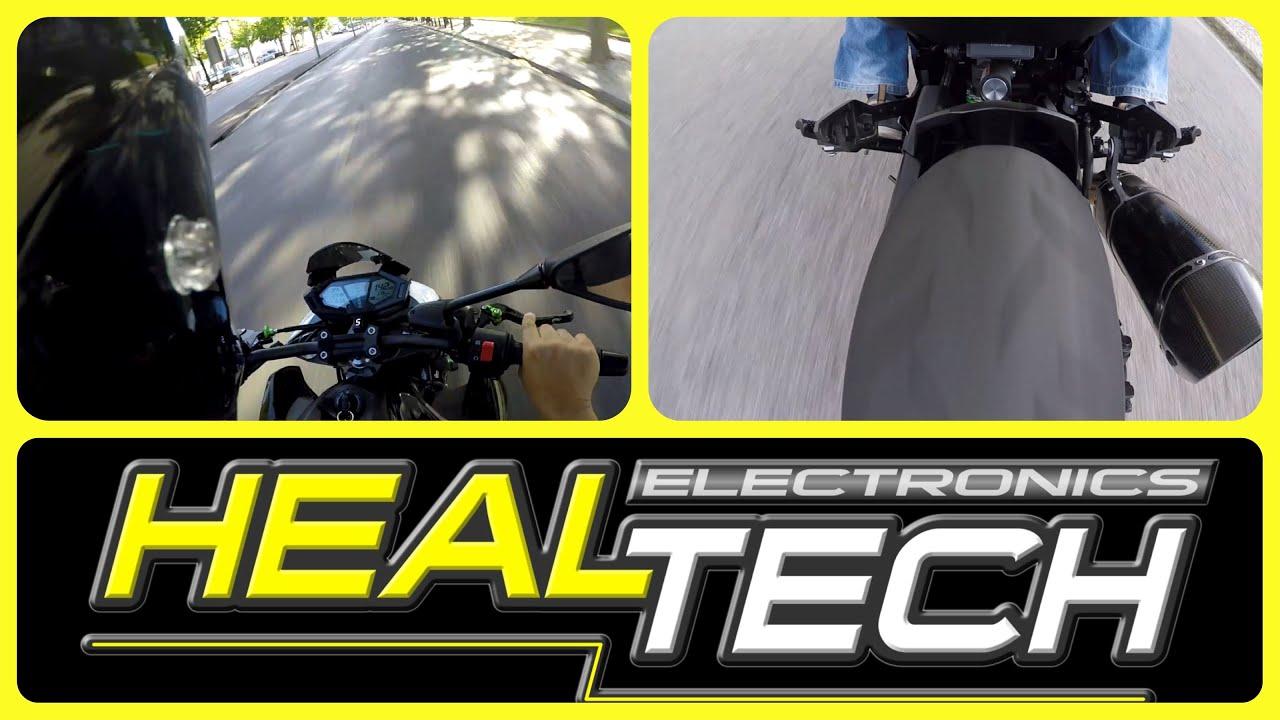 Kawasaki Z800 HealTech QuickShifter easy [Onboard & Fly by]