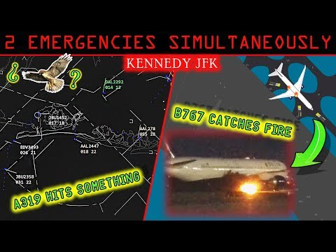REAL ATC JFK airport has TWO SIMULTANEOUS EMERGENCIES!