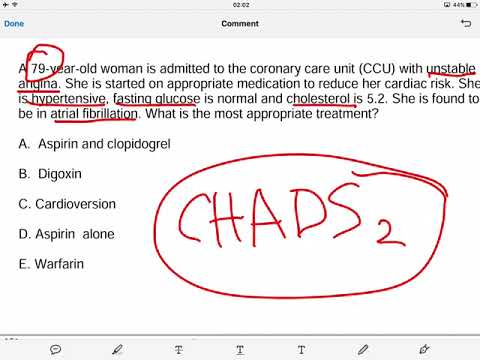 Data Interpretation   CHADS2 Score   Atrial Fibrillation   Cardiology   Medical School   Revision  