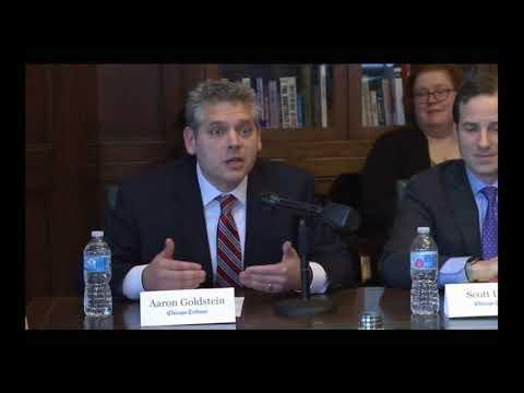 Aaron Goldstein at Chicago Tribune Attorney General Forum