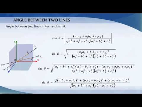 11-4 3D - Angle Between Two Lines