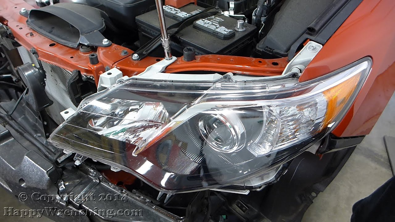 toyota camry headlight and foglight removal 2012 2014. Black Bedroom Furniture Sets. Home Design Ideas