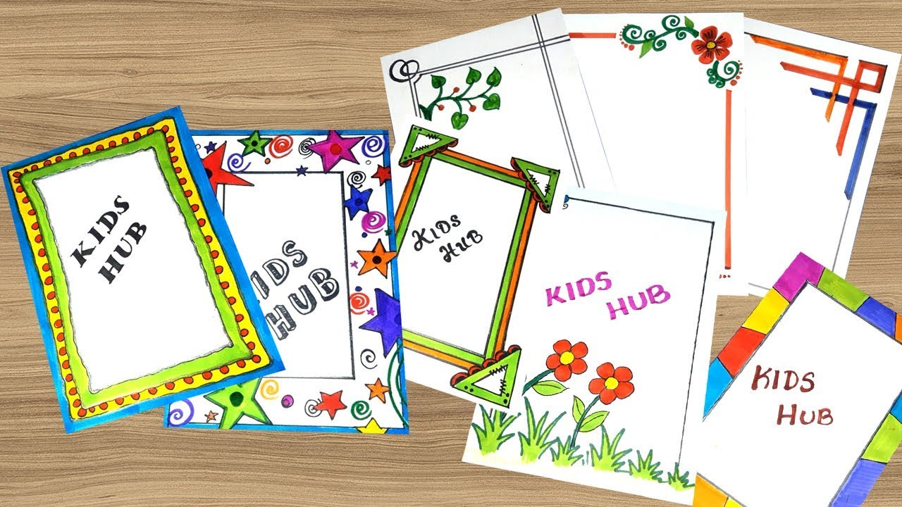 13 Compilation Easy Page Border Page Border Design For