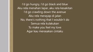 adele-make you feel my love lirik (english and indonesian)