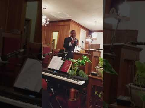 Pastor Walter Ellis at Magnolia Baptist Church in Tuskegee Al August 15,2017