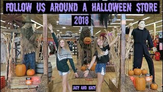 Fun at a Halloween Store 2018 ~ Follow Us Around ~ Costume Shopping ~ Jacy and Kacy