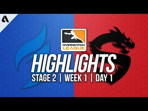 Dallas Fuel vs Shanghai Dragons | Overwatch League Highlights OWL Stage 2 Week 1 Day 1