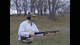 Winchester Model 1897 in slow motion