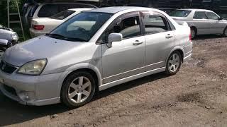 Видео-тест автомобиля Suzuki Aerio ( Rc51s-200339, M18A, серебро,2004 год)