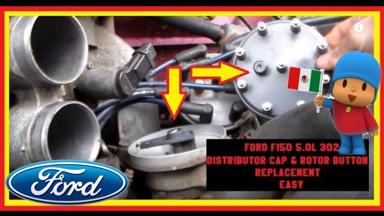 DIY FORD F150 50L 302 Distributor Cap & Rotor Button