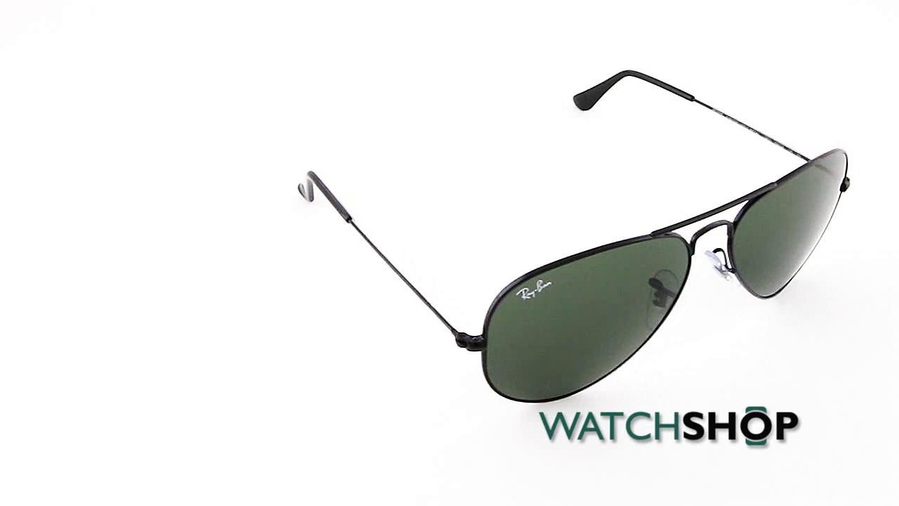 57b3ee8d9c5 Ray-Ban Men s Aviator Classic Sunglasses (RB3025-L2823-58) - YouTube
