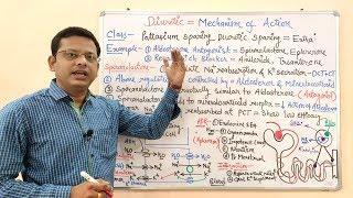 Diuretic (Part 08)-   Mechanism of Action of Potassium Sparing Diuretics in Hindi