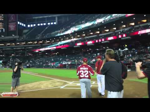 Tyrann Mathieu throws out first pitch at D-backs game