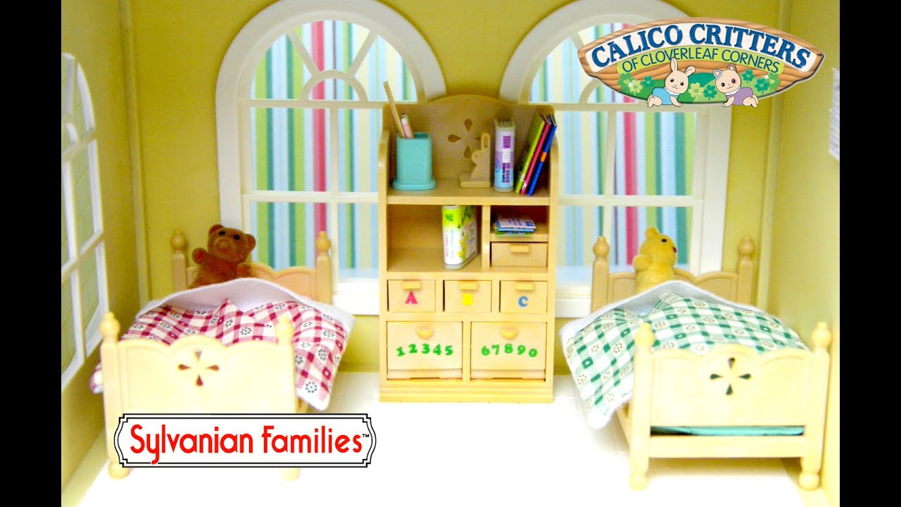 Sylvanian Families Calico Critters Childrenu0027s Bedroom Set Unboxing And  Setup   Kids Toys   YouTube