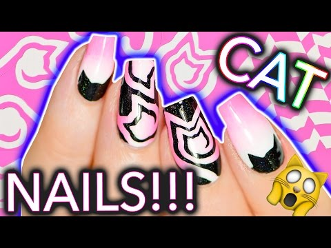 Easy Cat Nails with Cat-Style Nail Vinyls! MEOWWW