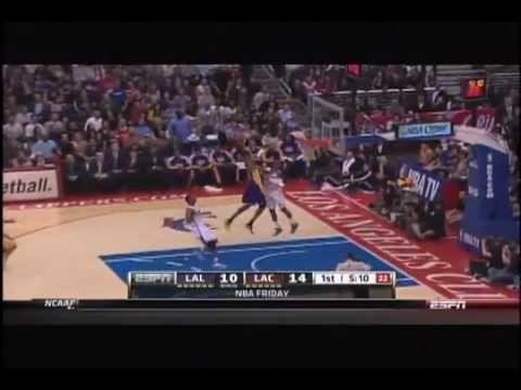 Kobe Bryant dunks on Chris Paul - Los Angeles Lakers vs Los Angeles Clippers