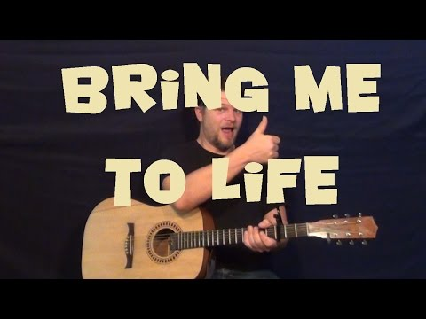 Bring Me To Life (Evanescence) Guitar Lesson Easy Strum Chords Licks How to Play Tutorial
