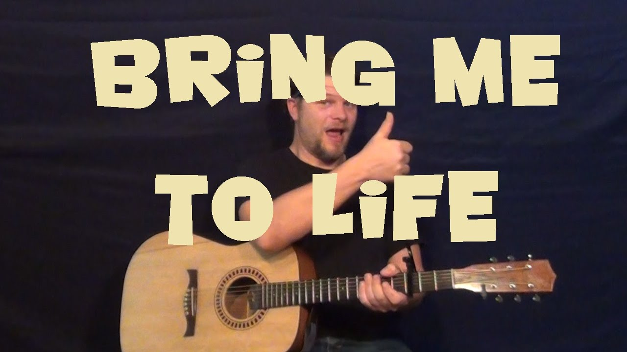 Bring Me To Life Evanescence Guitar Lesson Easy Strum Chords Licks