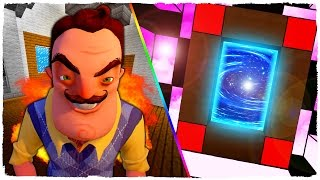 HOW TO MAKE A PORTAL TO HELLO NEIGHBOR'S DIMENSION - MINECRAFT
