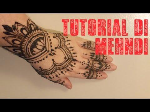 Tutorial di mehndi #3 (tatuaggio all'hennè)