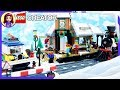 Lego Winter Village Train Station Build Creator Review Silly Play Kids Toys