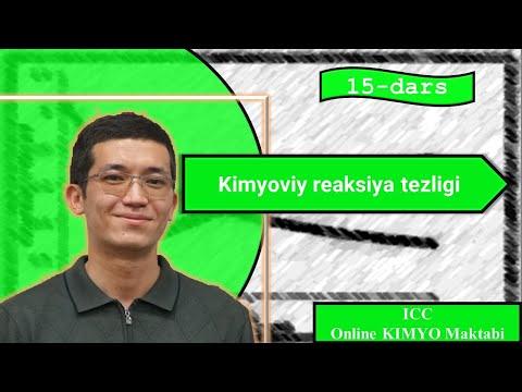 Reaksiya tezligi | 15-dars