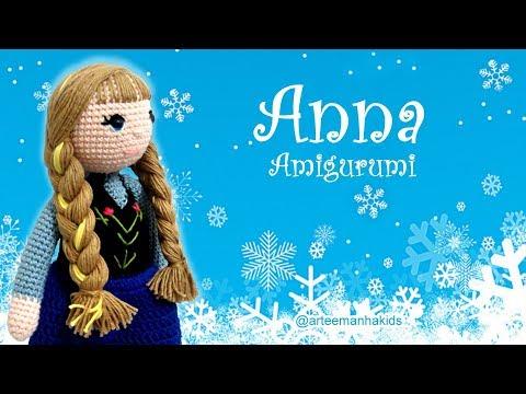 Brinquedos de Crochê Boneca Frozen Amigurumi - Receita Amigurumi ... | 360x480