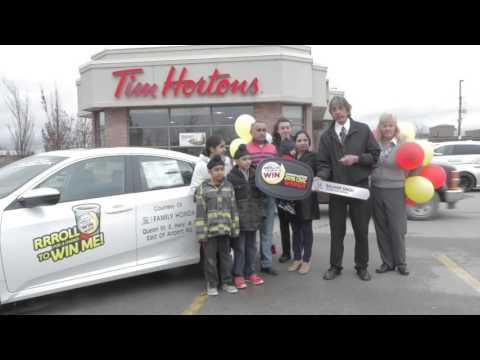 Tim Horton's Roll Up Winner | Family Honda